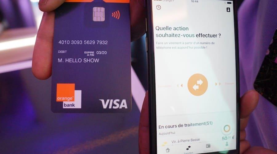 application et carte Orange Bank demo